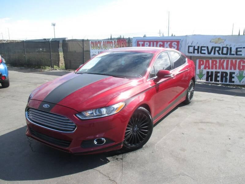 2015 Ford Fusion for sale at Quick Auto Sales in Modesto CA
