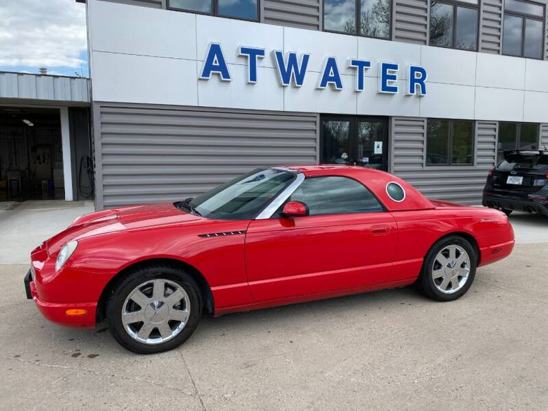 2002 Ford Thunderbird for sale at Atwater Ford Inc in Atwater MN