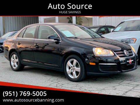2008 Volkswagen Jetta for sale at Auto Source in Banning CA