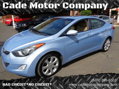 2012 Hyundai Elantra for sale at Cade Motor Company in Lawrenceville NJ