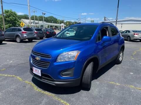 2016 Chevrolet Trax for sale at M & J Auto Sales in Attleboro MA
