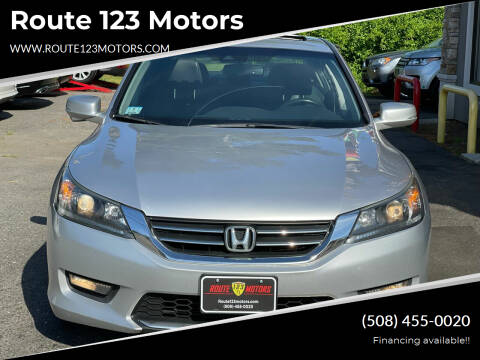 2015 Honda Accord for sale at Route 123 Motors in Norton MA