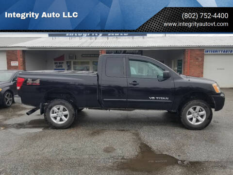 2013 Nissan Titan for sale at Integrity Auto LLC - Integrity Auto 2.0 in St. Albans VT