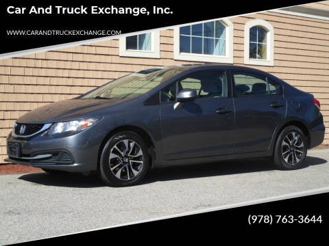 2013 Honda Civic for sale at Car and Truck Exchange, Inc. in Rowley MA