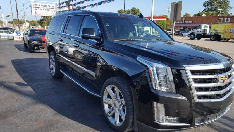 2016 Cadillac Escalade ESV for sale at Rons Auto Sales in Stockdale TX