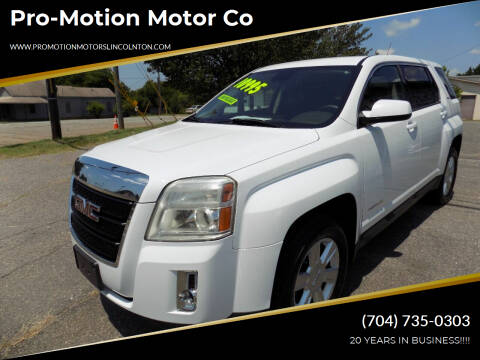 2012 GMC Terrain for sale at Pro-Motion Motor Co in Lincolnton NC
