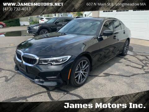 2020 BMW 3 Series for sale at James Motors Inc. in East Longmeadow MA