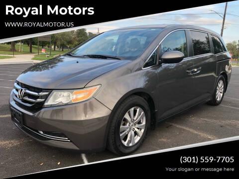 2014 Honda Odyssey for sale at Royal Motors in Hyattsville MD