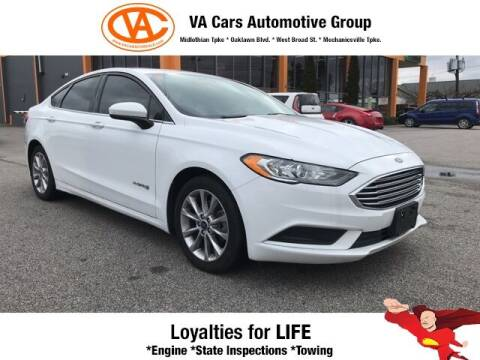 2017 Ford Fusion Hybrid for sale at VA Cars Inc in Richmond VA