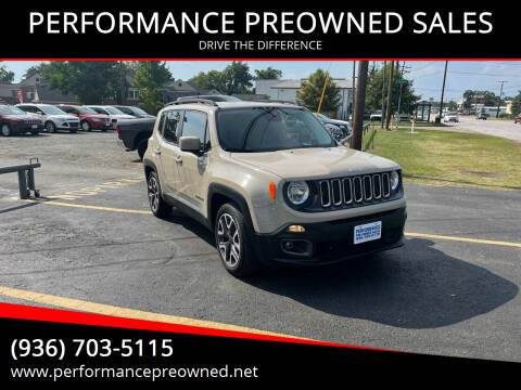 2015 Jeep Renegade for sale at PERFORMANCE PREOWNED SALES in Conroe TX