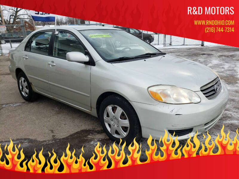 2004 Toyota Corolla for sale at R&D Motors LLC in Cleveland OH