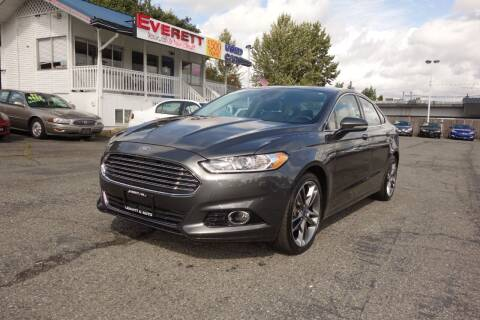 2016 Ford Fusion for sale at Leavitt Auto Sales and Used Car City in Everett WA