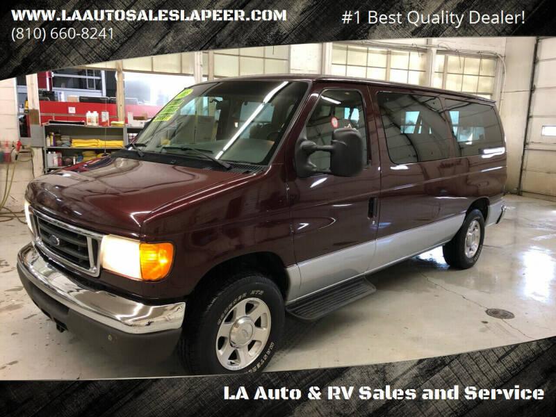2005 Ford E-Series Wagon for sale at LA Auto & RV Sales and Service in Lapeer MI