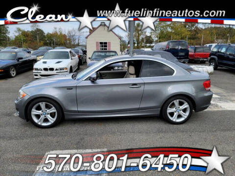 2012 BMW 1 Series for sale at FUELIN FINE AUTO SALES INC in Saylorsburg PA