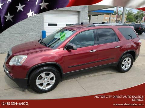 2011 GMC Acadia for sale at Motor City Direct Auto Sales & Service in Pontiac MI