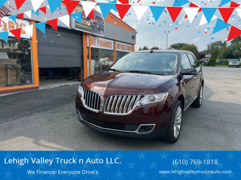 2012 Lincoln MKX for sale at Lehigh Valley Truck n Auto LLC. in Schnecksville PA