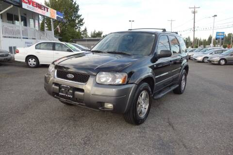 2003 Ford Escape for sale at Leavitt Auto Sales and Used Car City in Everett WA