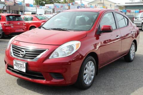 2012 Nissan Versa for sale at Grasso's Auto Sales in Providence RI