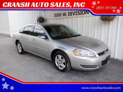 2006 Chevrolet Impala for sale at CRANSH AUTO SALES, INC in Arlington TX