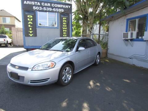 2012 Chevrolet Impala for sale at ARISTA CAR COMPANY LLC in Portland OR