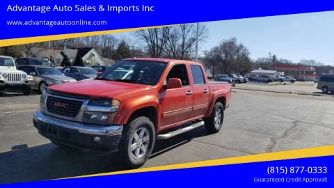 2010 GMC Canyon for sale at Advantage Auto Sales & Imports Inc in Loves Park IL