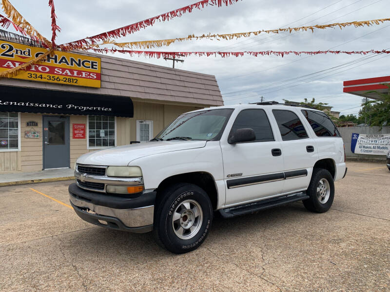 2002 Chevrolet Tahoe for sale at 2nd Chance Auto Sales in Montgomery AL