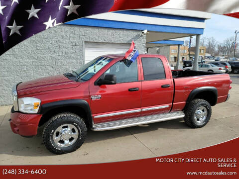 2008 Dodge Ram Pickup 2500 for sale at Motor City Direct Auto Sales & Service in Pontiac MI