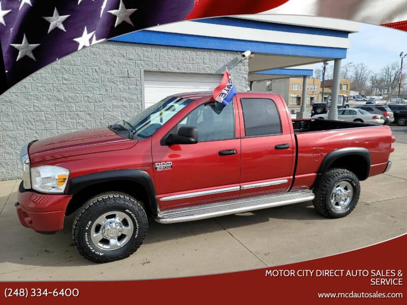 2008 Dodge Ram Pickup 2500 for sale at Motor City Direct Auto Sales & Service in Pontiac MI
