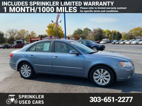 2009 Hyundai Sonata for sale at Sprinkler Used Cars in Longmont CO