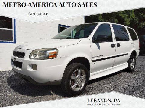 2008 Chevrolet Uplander for sale at METRO AMERICA AUTO SALES of Lebanon in Lebanon PA