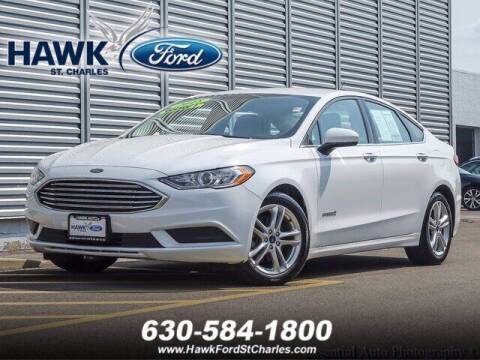 2018 Ford Fusion Hybrid for sale at Hawk Ford of St. Charles in Saint Charles IL