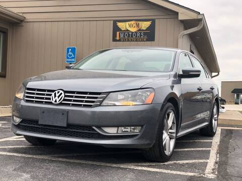 2014 Volkswagen Passat for sale at MGM Motors LLC in De Soto KS