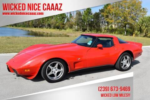 1979 Chevrolet Corvette for sale at WICKED NICE CAAAZ in Cape Coral FL