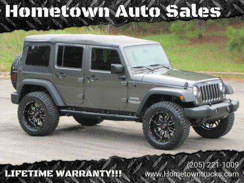 2016 Jeep Wrangler Unlimited for sale at Hometown Auto Sales - SUVS in Jasper AL