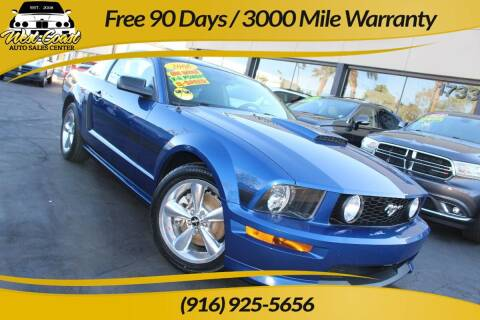 2008 Ford Mustang for sale at West Coast Auto Sales Center in Sacramento CA
