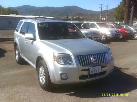 2010 Mercury Mariner for sale at Mendocino Auto Auction in Ukiah CA