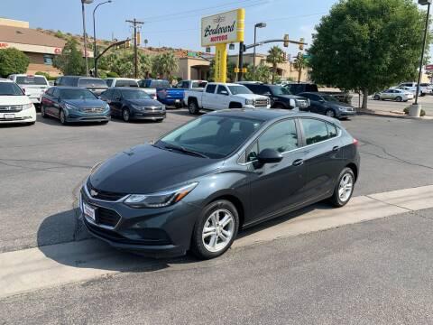 2017 Chevrolet Cruze for sale at Boulevard Motors in Saint George UT