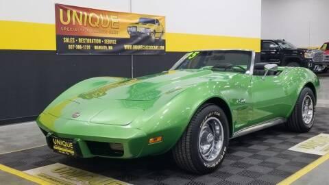 1975 Chevrolet Corvette for sale at UNIQUE SPECIALTY & CLASSICS in Mankato MN