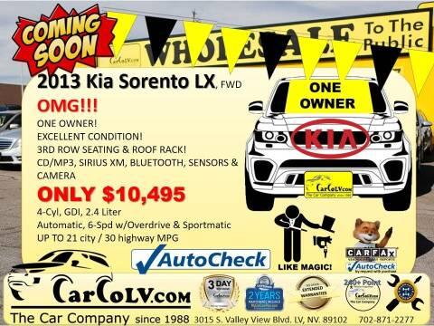 2013 Kia Sorento for sale at The Car Company in Las Vegas NV