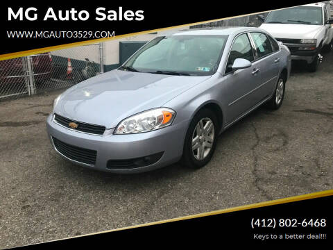2006 Chevrolet Impala for sale at MG Auto Sales in Pittsburgh PA