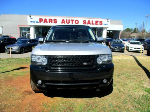 2012 Land Rover Range Rover for sale at Pars Auto Sales Inc in Stone Mountain GA