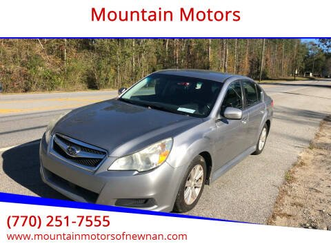 2010 Subaru Legacy for sale at Mountain Motors in Newnan GA