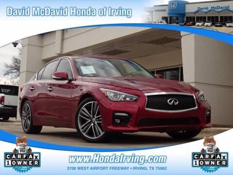 2016 Infiniti Q50 for sale at DAVID McDAVID HONDA OF IRVING in Irving TX