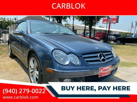 2006 Mercedes-Benz CLK for sale at CARBLOK in Lewisville TX
