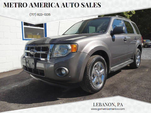 2011 Ford Escape for sale at METRO AMERICA AUTO SALES of Lebanon in Lebanon PA