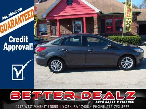 2017 Ford Focus for sale at Better Dealz Auto Sales & Finance in York PA
