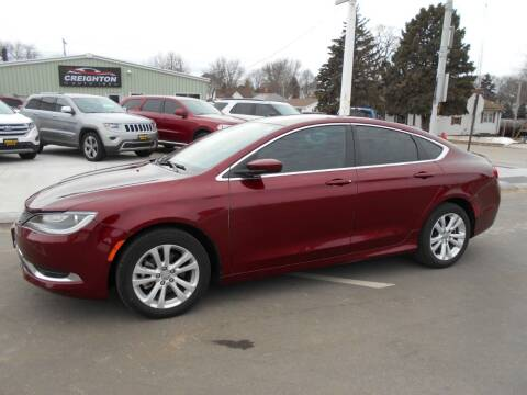 2015 Chrysler 200 for sale at Creighton Auto & Body Shop in Creighton NE