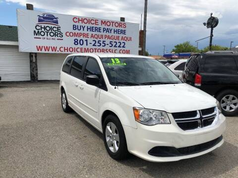2013 Dodge Grand Caravan for sale at Choice Motors of Salt Lake City in West Valley  City UT