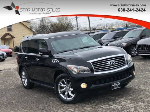 2013 Infiniti QX56 for sale at Star Motor Sales in Downers Grove IL
