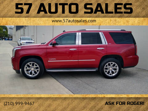 2015 GMC Yukon for sale at 57 Auto Sales in San Antonio TX